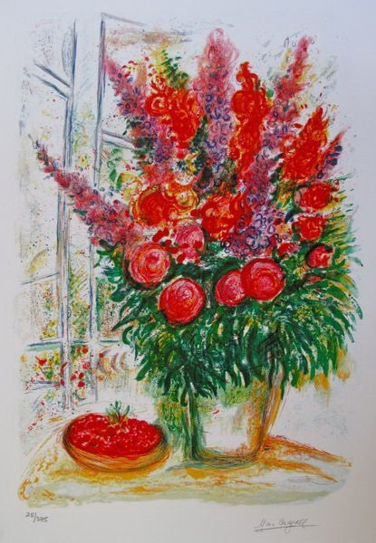 21T: MARC CHAGALL BOUQUET WITH BOWL OF CHERRIES LIMITED
