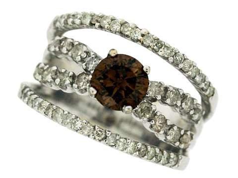 677Z: COLORED DIAMOND LADIES RING