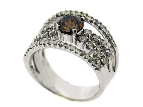 677Z: COLORED DIAMOND LADIES RING - 2