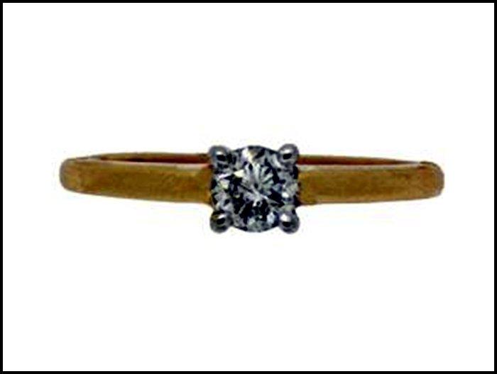 893Z: DIAMOND SOLITAIRE RING