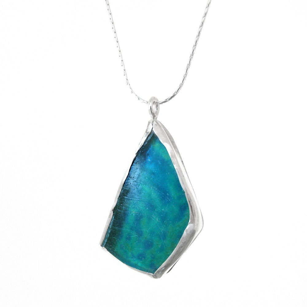 85F: ROMAN GLASS FREEFORM PENDANT