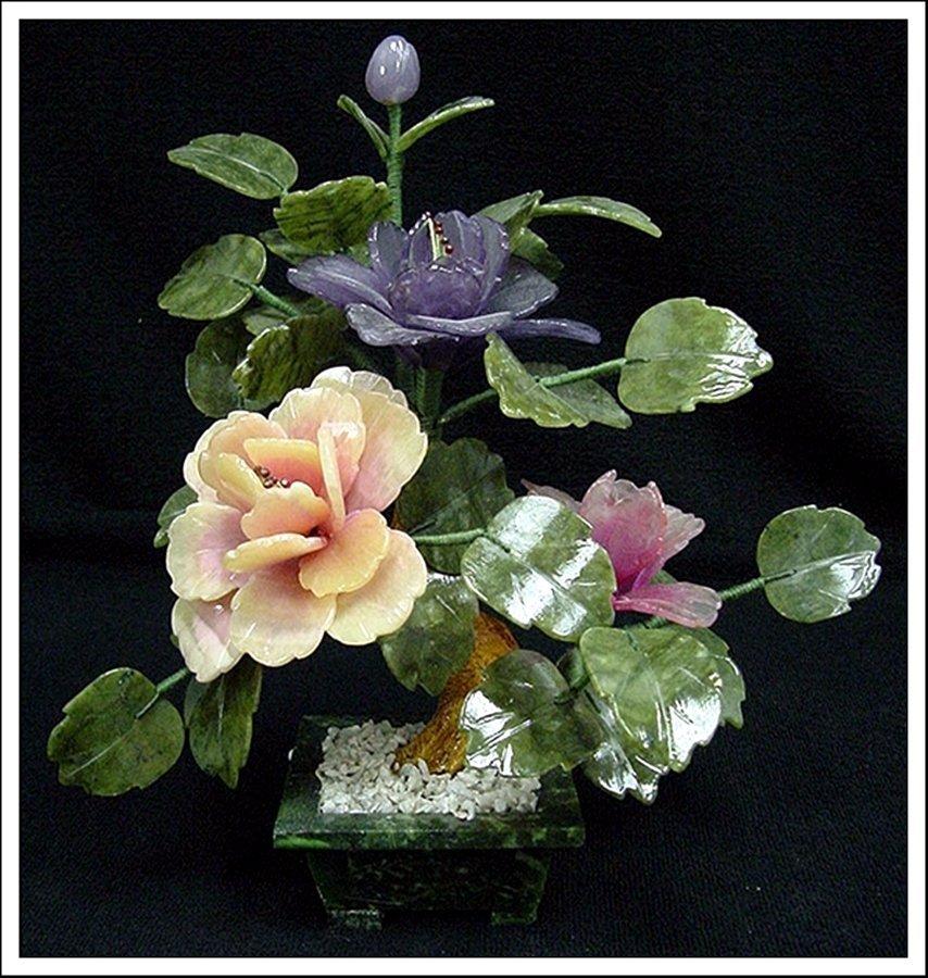 1J: MIXED JADE BONSAI FLOWERS