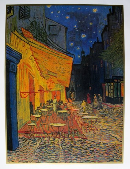 1T: VINCENT VAN GOGH CAFE AT NIGHT ART LITHOGRAPH