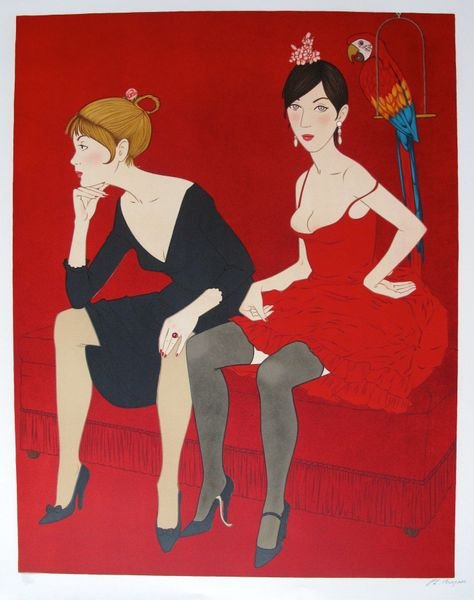 11T: PHILIPPE NOYER LADIES IN RED HAND SIGNED LIMITED E