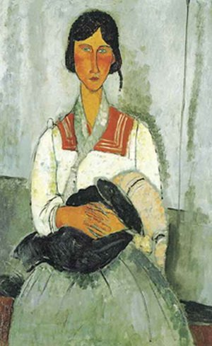 83T: AMADEO MODIGLIANI GYPSY WOMAN WITH CHILD LIMITED E