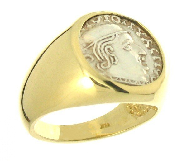 1F: ANCIENT INDIA 18KT GOLD RING