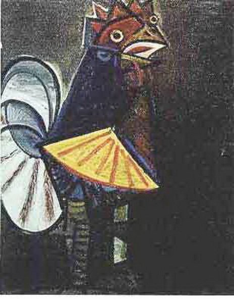 1T: #136 ROOSTER PICASSO ESTATE SIGNED GICLÉE