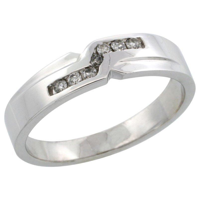 61C: 10K WHITE GOLD MEN'S DIAMOND RING BAND