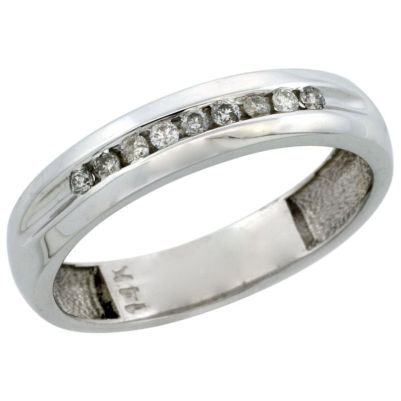 88C: 14K WHITE GOLD MEN'S DIAMOND RING BAND