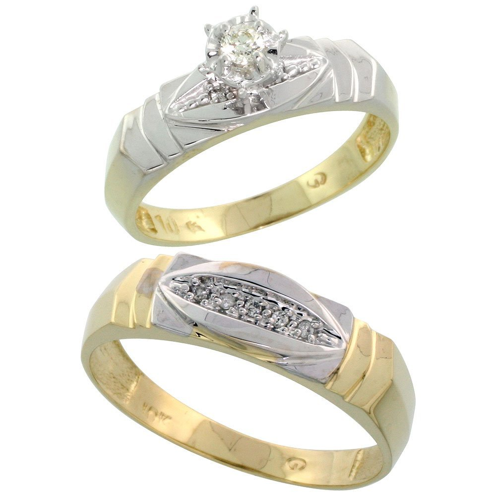469C: 10K GOLD 2-PIECE DIAMOND RING SET