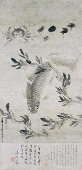 "XIA QIAN  ""FISH AND CRAB"""