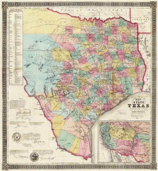 "461G: JACOB DE CORDOVA  ""THE STATE OF TEXAS, 1856"""