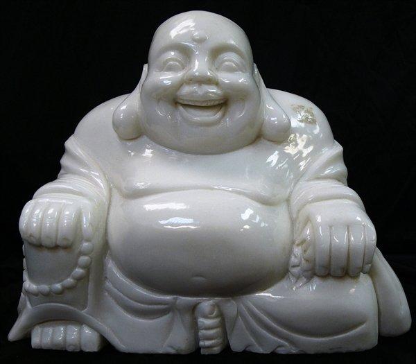 4J: WHITE JADE SITTING BUDDHA