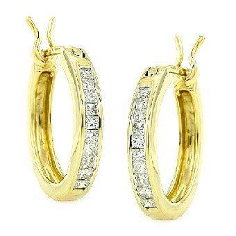1W: DIAMOND HOOP EARRINGS