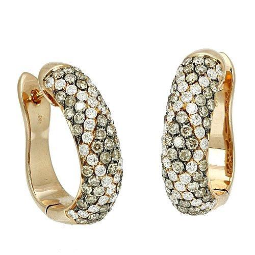 10W: CHAMPAGNE DIAMOND FANCY EARRINGS