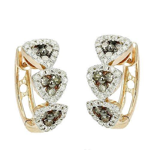 703W: CHAMPAGNE DIAMOND FANCY EARRINGS