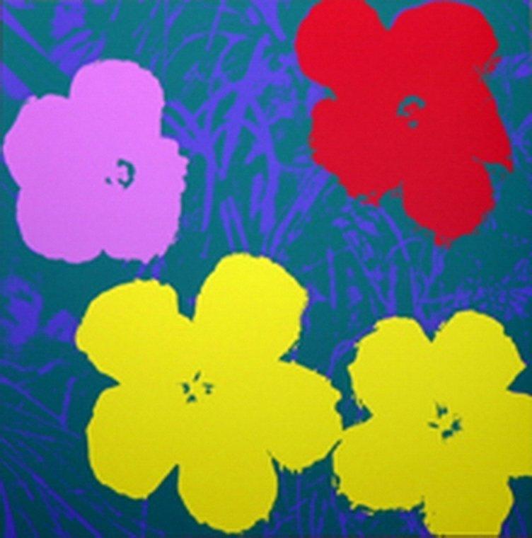 830B: ANDY WARHOL - FLOWERS - SUNDAY B. MORNING