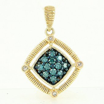 1C: BLUE DIAMOND PENDANT