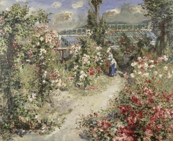 "9G: PIERRE AUGUSTE RENOIR  ""THE GREENHOUSE"""