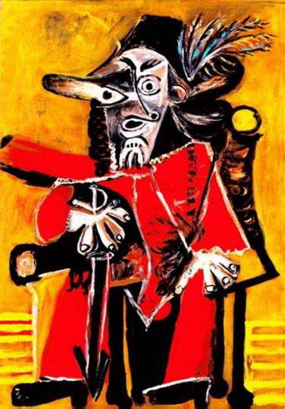 3T: #77 THE MUSKETEER PICASSO ESTATE SIGNED GICLÉE