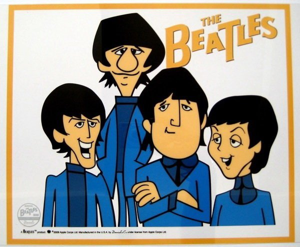 7T: THE BEATLES BAND ANIMATION CARTOON SERICEL CEL