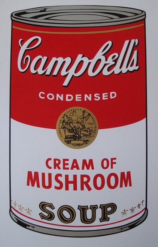 1B: ANDY WARHOL - SUNDAY B. MORNING - CREAM OF MUSHROOM