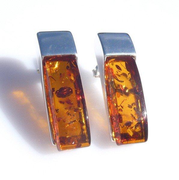 3F: GOLDEN AMBER EARRINGS