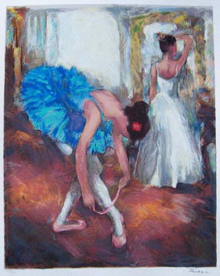 17T: HEDVA FERENCI BLUE DANCER LIMITED ED. HAND SIGNED