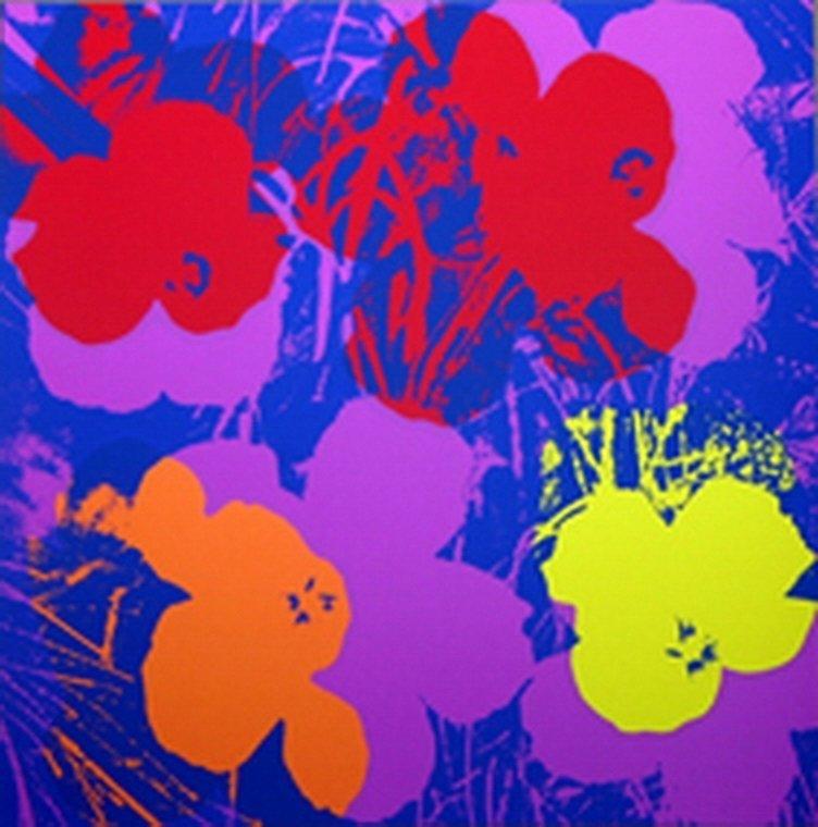 818B: ANDY WARHOL - FLOWERS - SUNDAY B. MORNING
