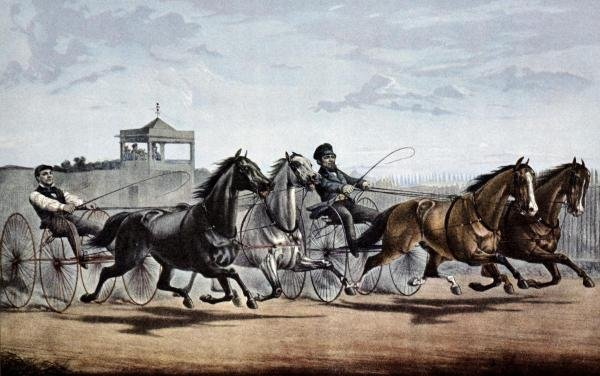 """1G: CURRIER AND IVES  """"PASSING THE STAND"""""""