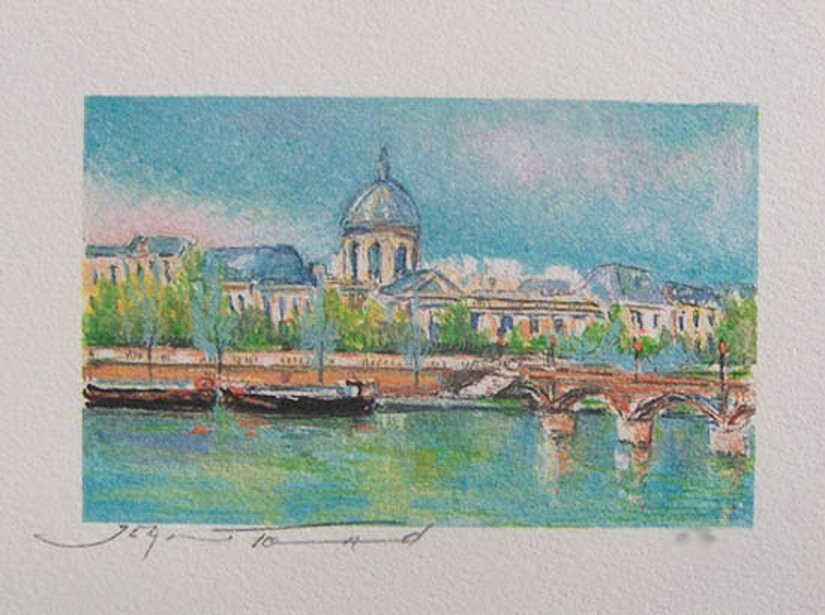 9T: JEAN FERNAND THE NEW BRIDGE LIMITED ED. HAND SIGNED