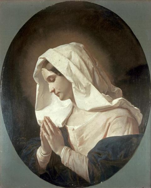 "1G: GIUSEPPE MOLTENI  ""MADONNA IN PRAYER"""