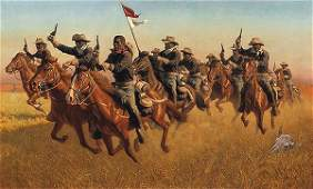1087W FRANK C MCCARTHY  BUFFALO SOLDIERS ADVANCE A