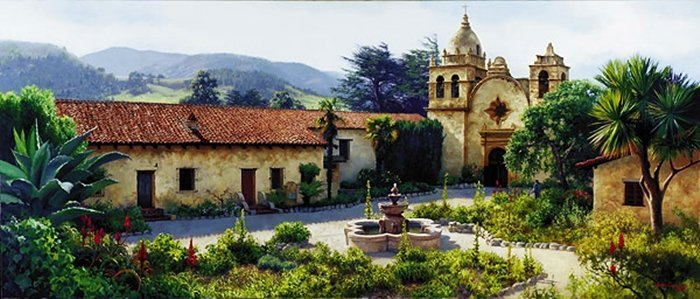 7W: JUNE CAREY - THE MISSION COURTYARD