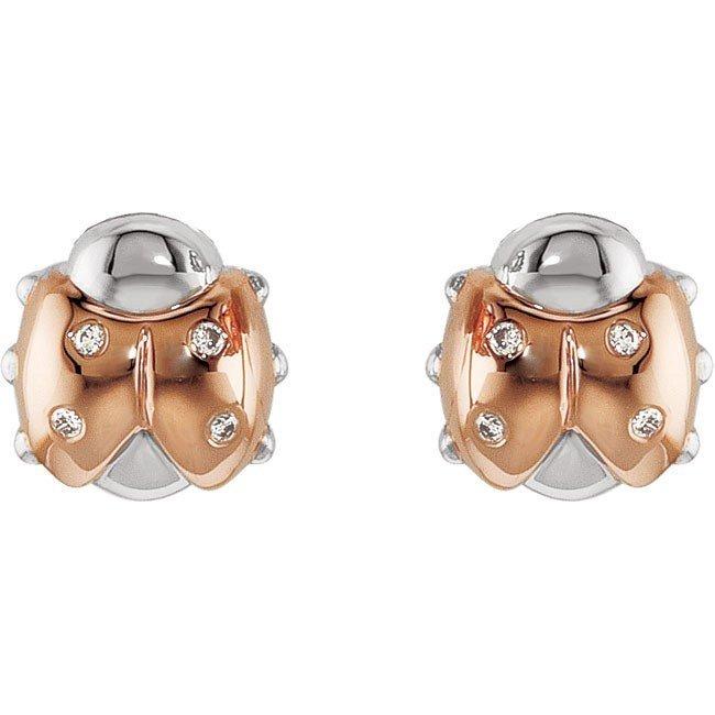 8F: DIAMOND LADYBUG EARRINGS