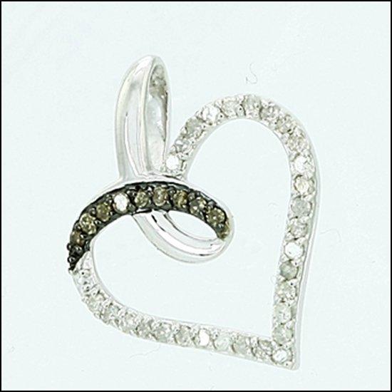 6L: STERLING SILVER - PAVE SET WHITE & CHAMPAGNE DIAMON