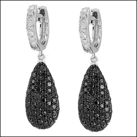 11L: 14K GOLD - BLACK DIAMOND EARRINGS