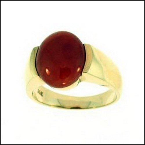 1K: NATURAL RED JADE RING