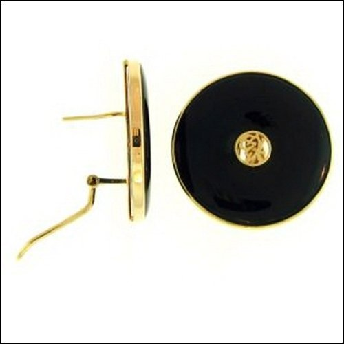 11K: NATURAL BLACK JADE EARRINGS