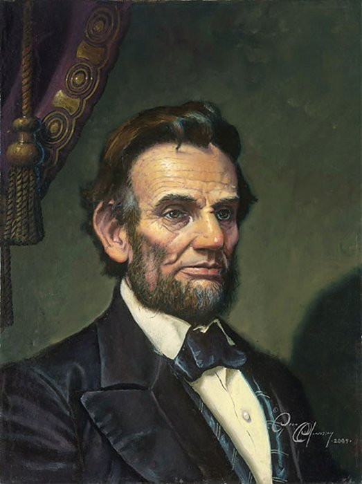 4W: DEAN MORRISSEY - STUDY FOR ABRAHAM LINCOLN: THE GRE
