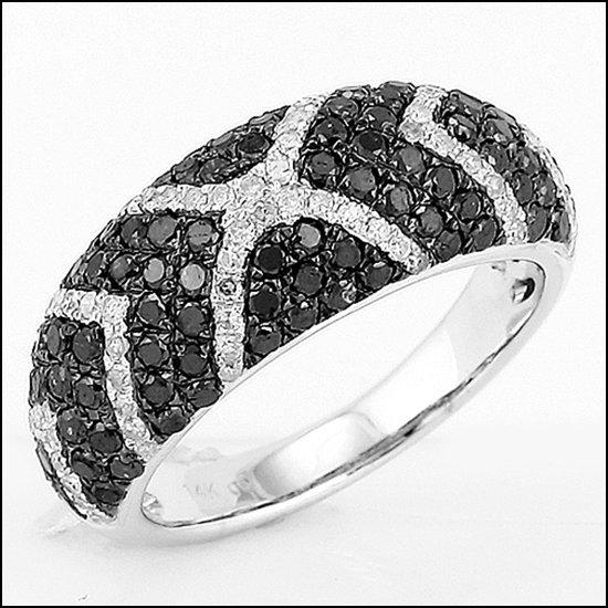 1L: 14K - BLACK DIAMOND FASHION RING