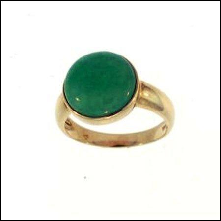 11K: NATURAL GREEN JADE RING