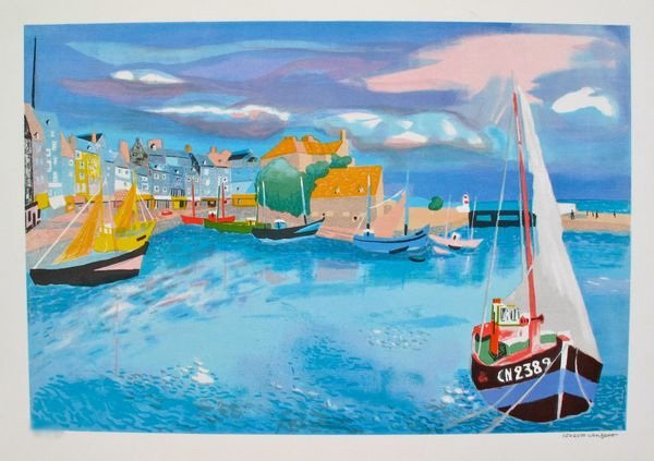 3T: GEORGES LAMBERT HARBOR LIMITED ED. HAND SIGNED