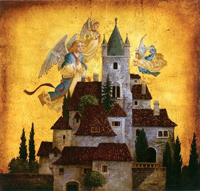 7W: JAMES CHRISTENSEN - ANGELS OF MY VILLAGE
