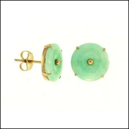 5N: NATURAL GREEN JADE EARRINGS