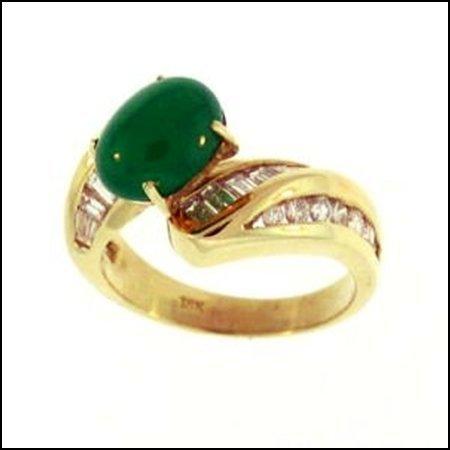 1K: NATURAL GREEN JADE RING
