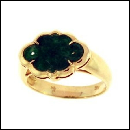 595K: NATURAL GREEN JADE RING