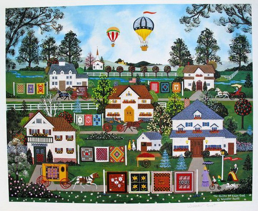 11T: JANE WOOSTER SCOTT QUILTS OF CAPE COD HAND SIGNED