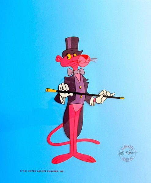 17T: PINK PANTHER TOP HAT AND COAT TAILS ANIMATION SERI