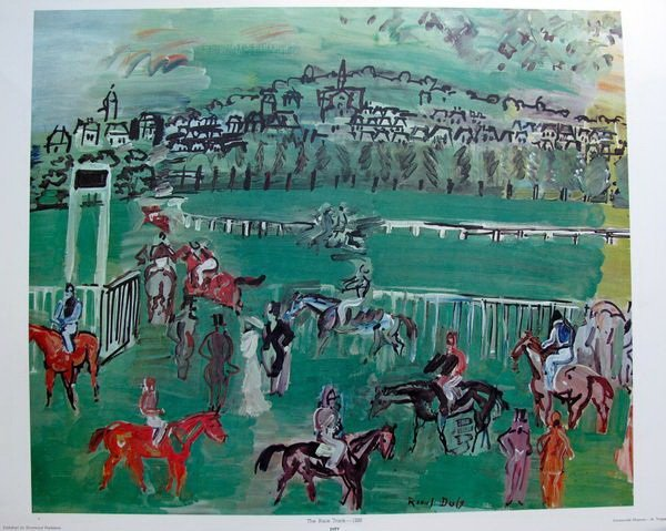 9T: RAOUL DUFY THE RACE TRACK - 1928 PLATE SIGNED